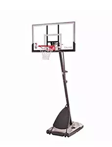 "Spalding Pro Slam Portable NBA 54"" Angled Pole Backboard Basketball System ((Black)) (Black, 54"")"